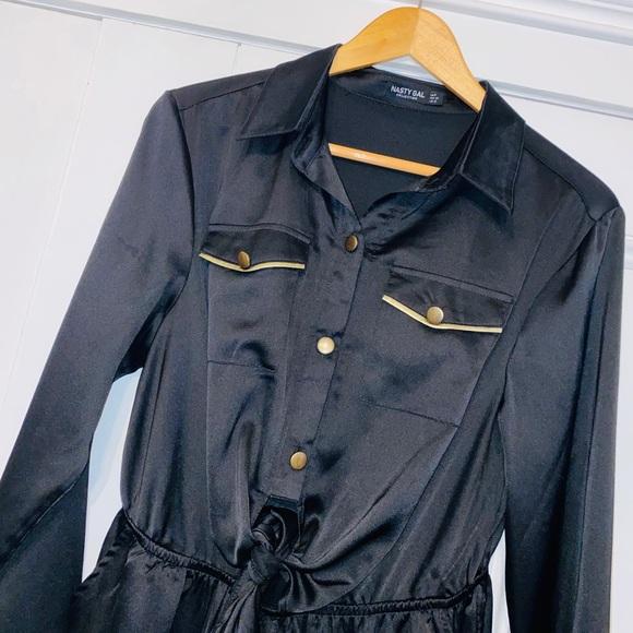 Nasty Gal Pants - Nasty Gal Black & Gold Jumpsuit